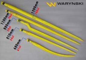 Ząb kuty do ładowaczy czołowych 880mm różne długości jakość Waryński