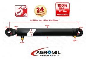 Cylinder hydrauliczny SKOK 500 L 840 tłok 2-str działania